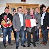 Ehrung von Altbürgermeister Fred Köhlerschmidt für 50 Jahre Mitgliedschaft